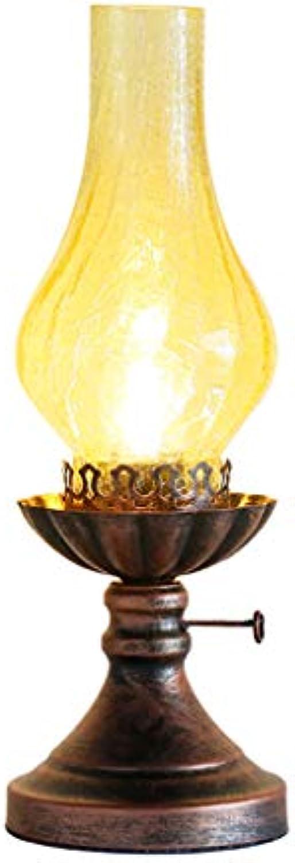 NACHTTISCHLAMPEN lixin Schmiedeeisen Tischlampe Schlafzimmer Schlafsaal Kreative Tischlampe (Farbe   Bronze, gre   40  14cm)
