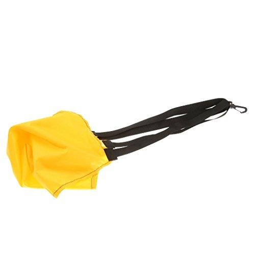 Romote Pool Widerstand-Fallschirm Power Speed Trainings-Schwimmen-Hilfe-Gelb/Schwarz - Gelb, L