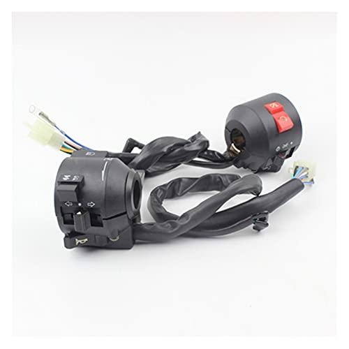 YYOMXXOM Black multifunción Control de Motocicleta Piezas de la Marca Controlador de Motorbike Fit para Honda CBT125 CBT 125 Cambiar Moto Manillar Control (Color : A Pair)