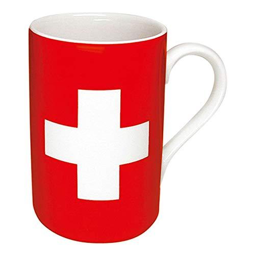 Könitz Flaggenbecher Schweizer Flagge, Schweiz, Becher, Tasse, Kaffeetasse, Porzellan, 310 ml, 11 1 003 0126