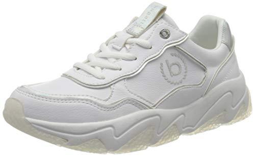 bugatti Damen 432846015059 Sneaker, Weiß (White/Silver 2013), 36 EU