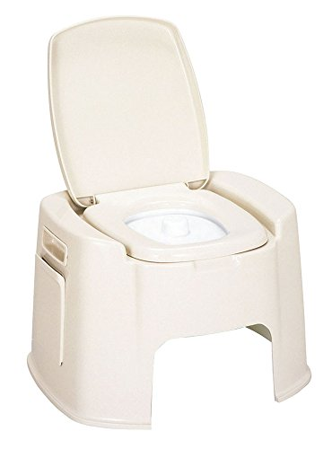 新輝合成 トンボ ポータブルトイレ DX型 ベージュ 0-3735-01