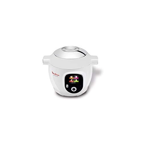 Moulinex Multicuiseur Intelligent Cookeo+ 6L 6 Modes de Cuisson 150 Recettes Préprogrammées Jusqu'à 6 Personnes Blanc CE851100