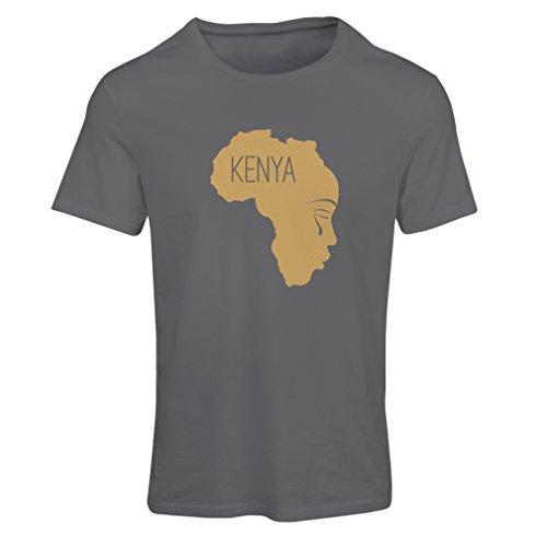 N4199F Speichern Kenia Frauen T-Shirts (S, Grau Gold)