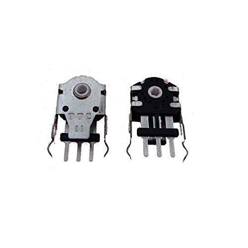 Cdoohiny 2 unids TTC 11mm blanco Core Mouse codificador rueda de ratón decodificador 24 millones de vida TTC 11mm núcleo blanco