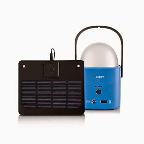 Philips Camping LED Solar Lampe Nachtlicht Laterne mit Akku,USB Port und Solarpanel