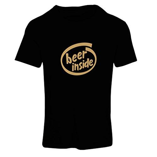 lepni.me dames T-shirt bier binnen - voor bierliefhebbers, grappig logo, humoristisch geschenk, kroeg, bar, party-kleding