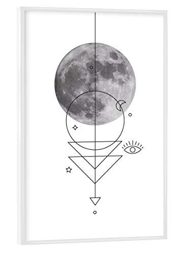 artboxONE Poster mit weißem Rahmen 30x20 cm Mond Natur Geo Moon - Bild Moon Moonlight Full Moon