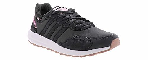 adidas Women's Retrorun Running Shoe, Grey/Black, 7.5 M US