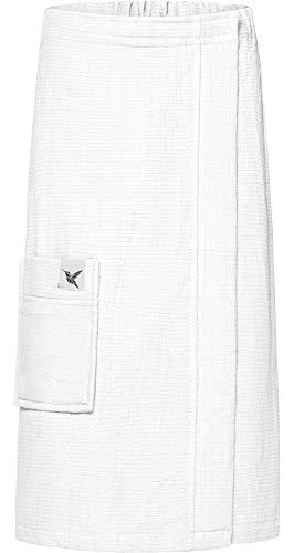 Ladeheid Kilt Toalla de Sauna de Terry Cloth Mujer LA40-218 (Blanco1, L-XL)