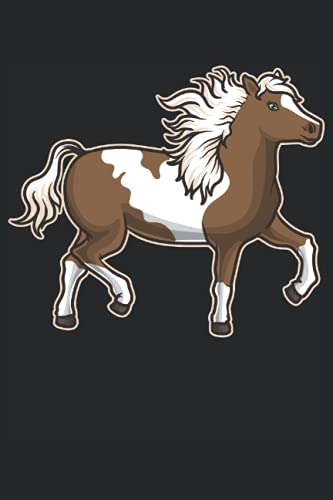 Pinto Pferd: Notizbuch LINIERT   Eine schöne Kladde für Pferdeliebhaber
