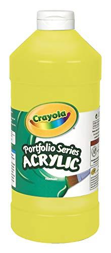 Crayola Acrylic Paint, Brilliant Yellow Kids Paint, 16oz