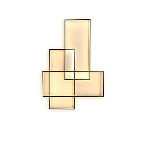 KBEST Lámpara De Pared LED Regulable Rectangular Moderna Elegante Negro Luz de...