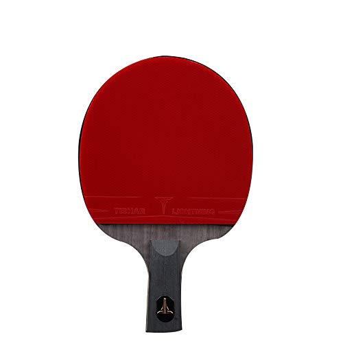 SSHHI 9 estrellas Raquetas de Tenis de Mesa, Agarre Antideslizante, Raquetas de Ping Pong, Excelente Velocidad y Rotación, Resistente Al desgaste/Como se muestra / 15.1×24.3CM