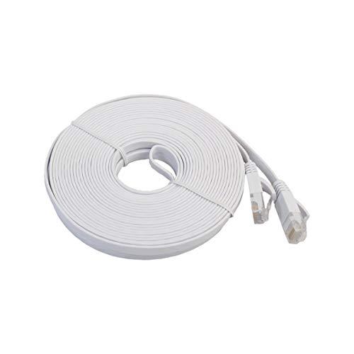 Morninganswer 10m Cat6E Flat Ethernet Network Cable LAN Cable de conexión de Cable Ethernet para computadora portátil de transmisión de Alta Velocidad para Oficina en casa