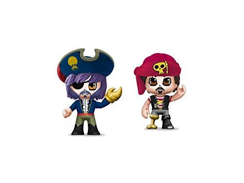 Pinypon Action- Piratas pack 2 figuras con accesorios, para