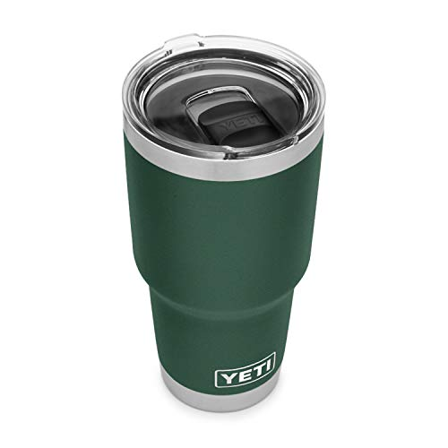 YETI Rambler 30 oz Tumbler, Stainless Steel, Vacuum Insulated with MagSlider Lid, Northwoods Green