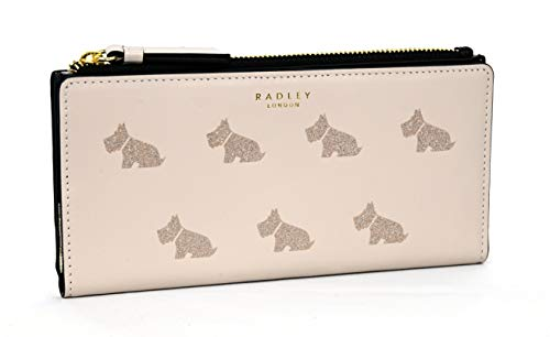 Radley - Borsa a portafoglio con cerniera, motivo 'Matinee', colore: Grigio tortora
