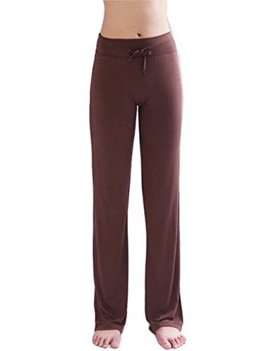 Hoerev - Pantalones para Mujer, Color café, Talla Large