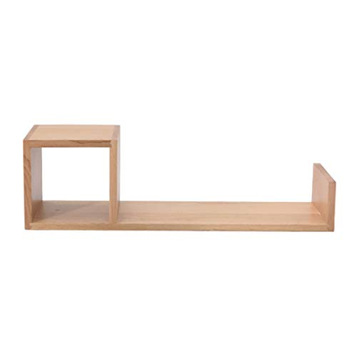 LM massief hout wandmontage rek drijvende plank, moderne minimalistische wandplank, mooi en praktisch, kan worden gebruikt als wanddecoratie voor interieur