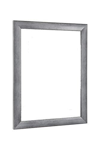 NiRa35-Top Bilderrahmen 48x64 cm in Grau gewischt mit Antireflex-Acrylglas