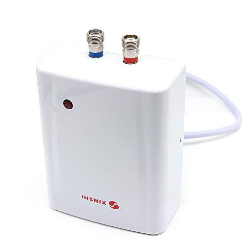 Klein-Durchlauferhitzer, Elektro Durchlauferhitzer Küche Dusche Sofort Heiß Warmwasserbereiter, Weiß 3.5 kw, Drucklos für Handwaschbecken