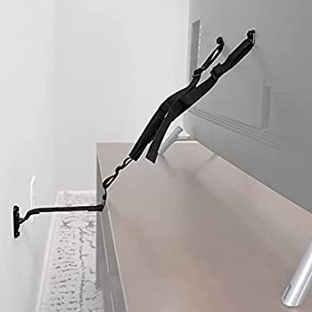 ECHOGEAR TV Safety Straps - Anchor TVs Up to 90  to Furniture Or The Wall - Pre-Assembled Anti-Tip Strap Includes All Hardware for Baby Proofing Your TV
