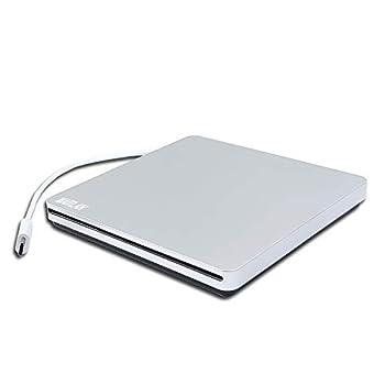 Portable External Blu-ray DVD/CD Players USB-C SuperDrive for Apple MacBook Air 2017 A1466 MQD32LL/A A1534 MNYG2LL/A MNYF2LL/A 12 13 Inch Laptop Dual Layer 8X DVD+-R DL 24X CD-R Burner Optical Drive