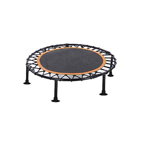 YYLL 40' Foldable Indoor Fitness Trampoline,Mini Fitness Rebounder with Adjustable Handle (Color : Orange, Size : Without armrests)