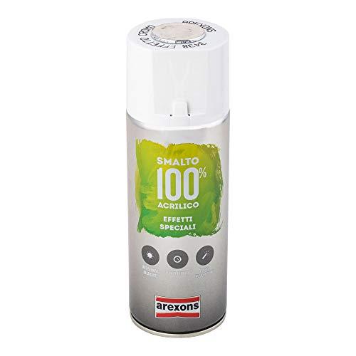 AREXONS SMALTO 100% ACRILICO EFFETTI SPECIALI SPECCHIANTE Smalto spray effetto Cromo, 400 ml vernice spray universale, smalto acrilico resine di alta qualità, essiccazione rapida, bomboletta spray