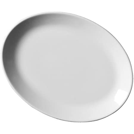 Royal Genware Oval Plates 28cm Pack Of 6 11inch Dinner Plates White Plates Porcelain Plates Commercial Quality Tableware By Royal Genware Amazon Co Uk Kitchen Home