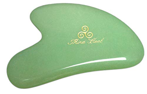 Jade Stone Massage Tool, 2 Point Design, for Anti-wrinkles, Anti-aging Gua Sha Massage, Skin Detox and Rejuvenation & Beauty