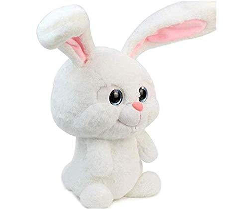 stogiit Juguete de Peluche Bola de Nieve Conejo Animales de Peluche Juguete de Peluche 30 CM de Altura sin Orejas Juguete Suave Decoración de Entretenimiento