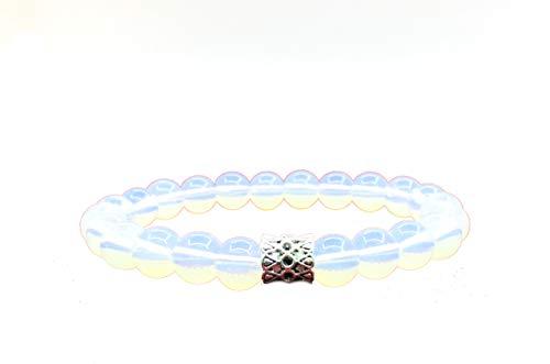 Pulsera de perlas de piedra natural, 8 mm, pulsera de bolas con piedra de luna semipreciosa, perlas para familia y amigos, mujer y hombre