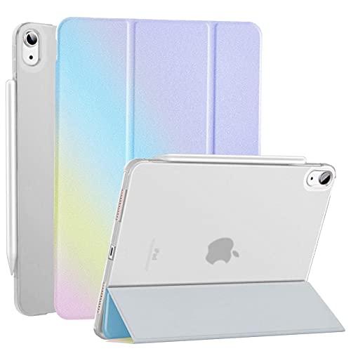 DAORANGE Funda para iPad Air de 4ª generación 10,9 pulgadas 2020, ultrafina, con soporte para bolígrafo y función de encendido y apagado automático para iPad Air 4 10.9 2020 (arcoíris)