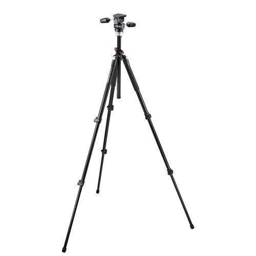 Manfrotto Pro 055XPROB Stativ (schwarz) mit 804RC2 Schwenkkopf