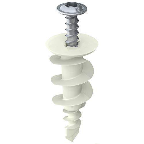 40 anclajes de plástico de nailon para yeso autoperforantes con tornillos   hasta 75 libras (SNG952)