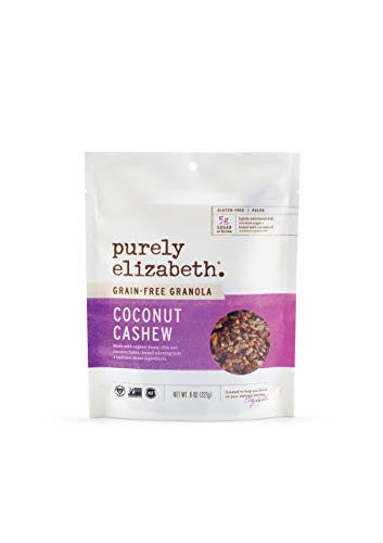 Purely Elizabeth Grain-Free Superfood Granola - Gluten-Free & Vegan + Paleo and Keto Certified | Baked with Cashews & Coconut Flakes - Coconut Cashew - 8oz