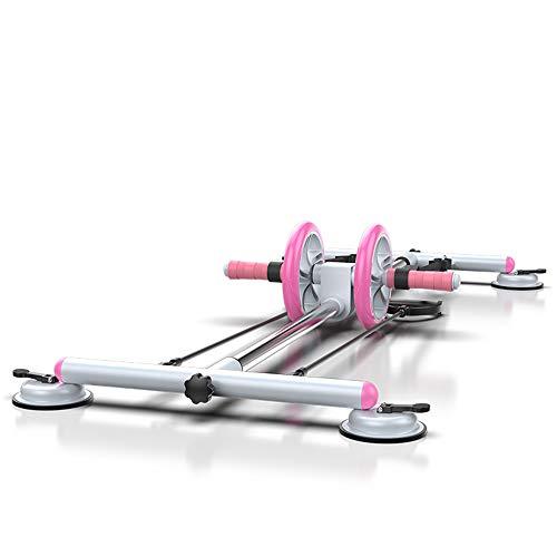 Multifunktionaler Beintrainer, Aerobic-Fitnessgeräte Mit 6 Körperhaltungen, Abnehmbares Bauchrad Mit Saugnapf Für Heimfitness Mit Einer Tragfähigkeit Von 200 Kg,Lila