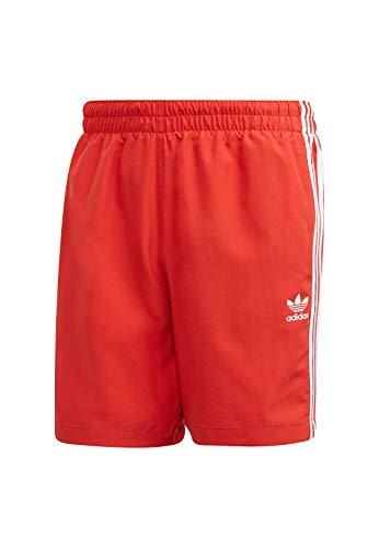 adidas Herren 3-Streifen Badeshorts, Lush Red, L