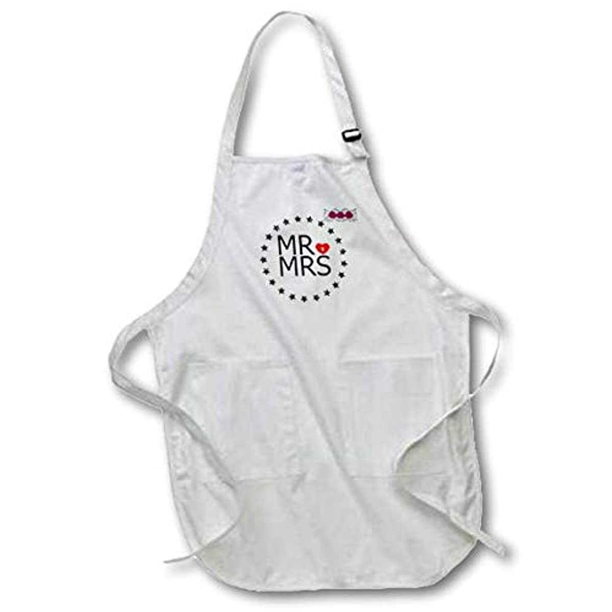 3dRose Engagement Announcements - Medium Length Apron, 22 by 24-Inch, with Pouch Pockets (apr_212699_2)