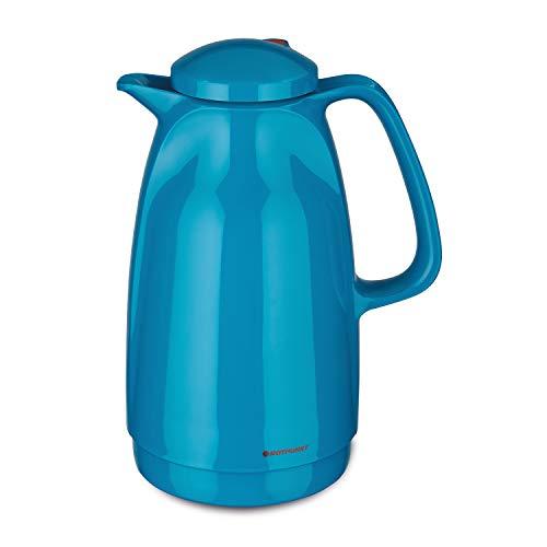 ROTPUNKT Isolierkanne 227 Bella 1,5 l   Zweifunktions-Drehverschluss   BPA-frei - gesundes Trinken   Made in Germany   Warm + Kalthaltung   Glaseinsatz (Vivid Petrol)