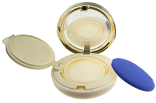15ml 0.5oz Empty Luxurious Golden Portable Make-up Powder Container Air Cushion Puff Case with Powder Puff and Mirror Refillable Foundation BB Cream Box