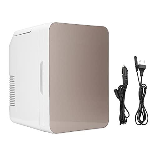 BIKING Refrigerador de Coche, Mini refrigerador de 10 litros, refrigerador portátil Dorado, Enfriador, Calentador para Oficina, hogar, 220 V(European Standard)