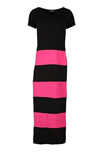 Price comparison product image Women Ladies Blocks Stripe Double Side Slit High Waist Split Long Maxi Dress Top