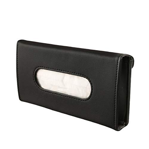 Auto Tissue Box-Masken-Gewebe-Kasten-Tuch-Sets Halter Auto-Innenraum-Speicher-Dekoration for Autoinnenräume Zubehör (Color Name : Black 1 Pcs)