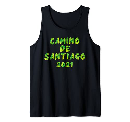 Camino de Santiago de Compostela Pilgrim Way St James 2021 Camiseta sin Mangas