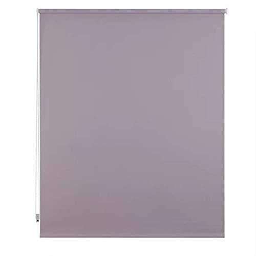Unishop Estor Enrollable Translúcido Liso, Fácil Instalación, Estor para Ventanas y Puertas (Gris, 105*180cm)