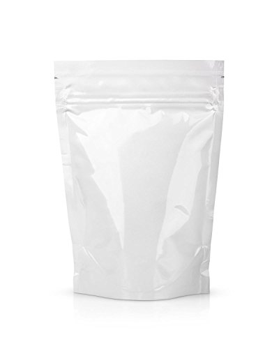 Clear Food Pouch Zip Lock Stand Up Zipper Recycled Food Bag 2 ounce - Smell, Odor, Leakproof Protection FDA and USDA Food Compliant (50 Pack)