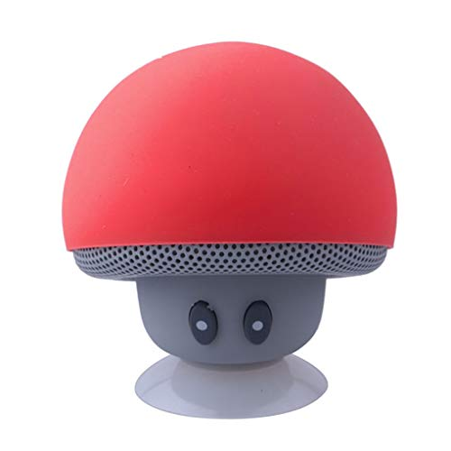 rongweiwang Cartoon Pilz Bluetooth Lautsprecher-Staubsaug Lautsprecher Tragbare Lautsprecher Cup Telefon Bracket bewegliche im Freien Kleinen Stereo
